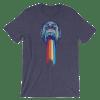 Women's Funny Monkey Puking Rainbows Short Sleeve T-Shirt