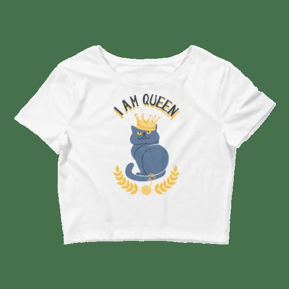 Women's I Am Queen Crop Top