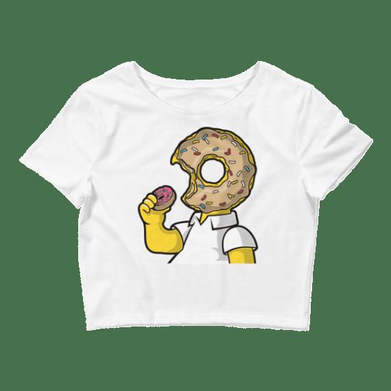 Women's I Love Donuts Crop Top