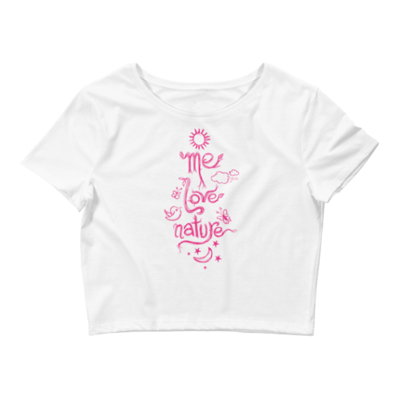 Women's Me Love Nature Crop Top