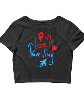Women's Me Love Travelling Crop Top