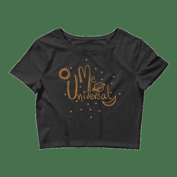 Women's Me Universal - Typography Crop Top