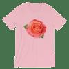 Women's Pink Rose Short Sleeve T-Shirt