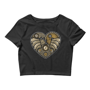 Women's Steampunk Heart Crop Top