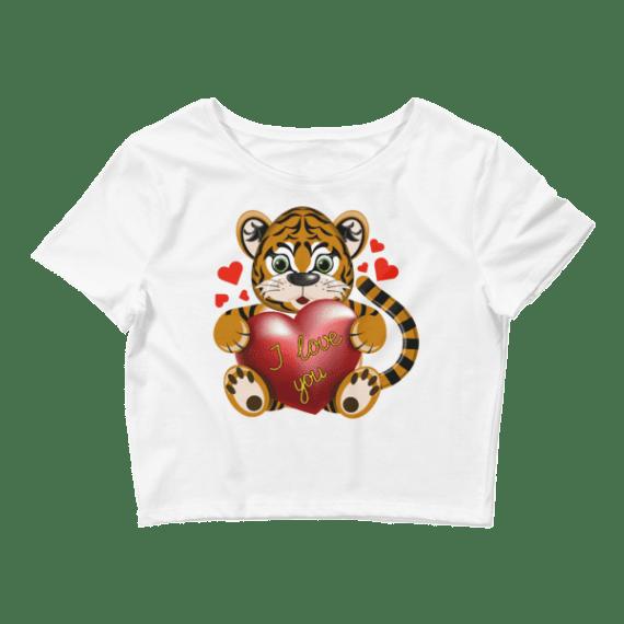Women's Tiger Loves You Crop Top