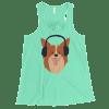 Women's Funny Dog Flowy Racerback Tank Top