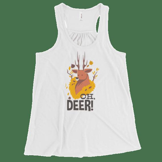 Women's Oh Deer! Flowy Racerback Tank Top