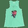 Women's Watercolor Rose Flowy Racerback Tank Top