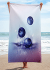 blueberry drop on juice splash and ripple towel