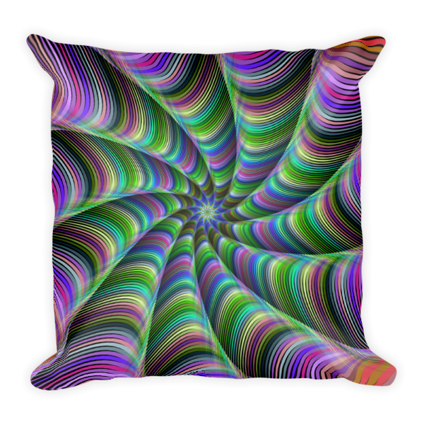 Colorful Cosmic Swirl Square Pillow