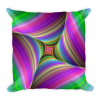Colorful Fractal Print Square Pillow