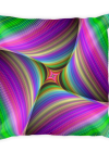 Colorful Fractal Print Square Pillow