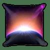 Colorful Space Sunrise Square Pillow