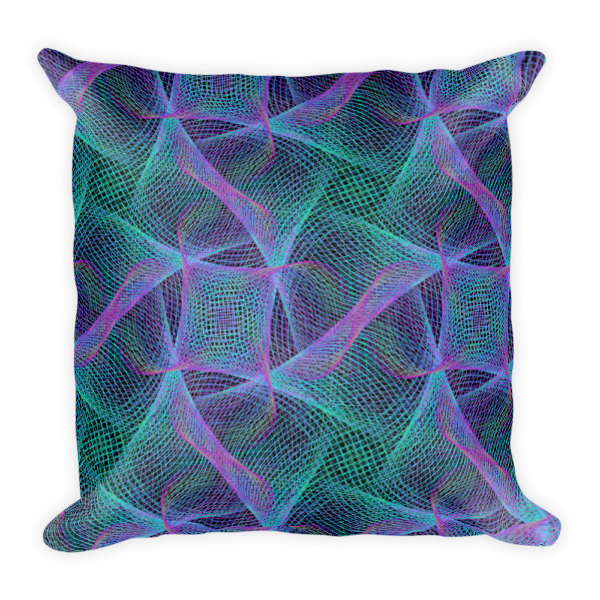 Colorful Web Square Pillow