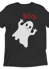 Funny Cute Ghost Saying Boo! Short sleeve t-shirt