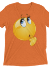 Funny Wonder Female Emoji Face T Shirt - Women's Thinking Face Emoji Short sleeve t-shirt