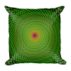 Green Spiral Rabbit Hole Square Pillow