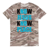 know jesus know peace Short-sleeved camouflage t-shirt