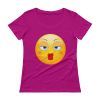 Ladies' Baby kiss Emoji Scoopneck T-Shirt