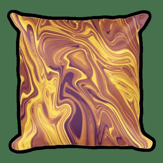 Liquid Gold Square Pillow