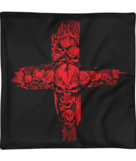 Red Skulls Cross Square Pillow Case only