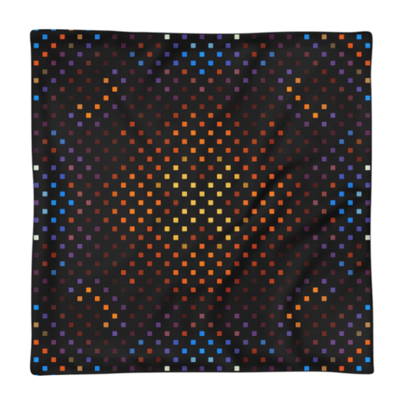 Shiny Squares Ornament Square Pillow Case only