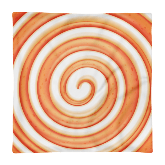 Sweet Orange and White Round Lollipop Candy Square Pillow Case only
