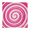 Sweet Pink and White Round Lollipop Candy Square Pillow Case only