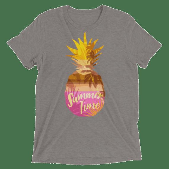 Sweet Summertime Pineapple Short sleeve Unisex t-shirt