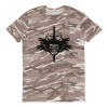 Sword and skull Short-sleeved camouflage t-shirt
