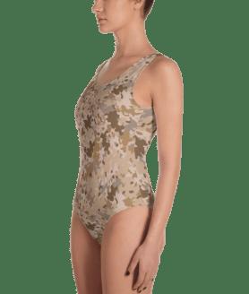 U.S Military Camouflage One-Piece Swimsuit - Women's Beachwear Bathing Suit