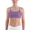 Hot Colorful Psychedelic Sports Bra