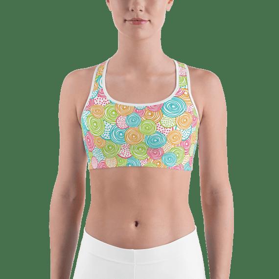 Trendy Candy Fitness Sports Bra