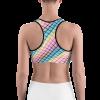 Trendy Rainbow Colored Rhombus Sports Bra