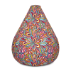 Big Bright Colorful Flowers Bean Bag Chair With Filling