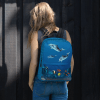 Big Underwater World Dolphins Backpack -  Classic Sea Animals Backpack
