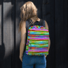 Brilliant Glowing Colorful Rainbow Stripes Backpack