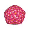 Colorful Stripes on Hot Pink Bean Bag Chair With Filling
