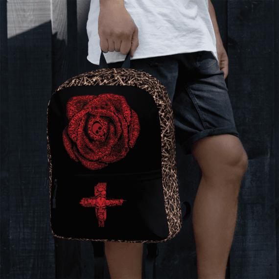 Halloween Rose Skulls & Horror Cross Backpack