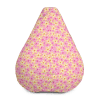 Pink and Orange Tropical Flowers Bean Bag Chair With Filling