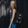 Romantic Girls and Boys Play the Swings with Colorful Hearts Backpack