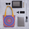 Shiny Colorful Tote bag - Brilliant Glowing Psychedelic Tote bag