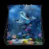 Trendy Fashionable Underwater Dolphins World Drawstring bag