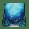 Unisex Deep Sea Jellyfish Drawstring Bag