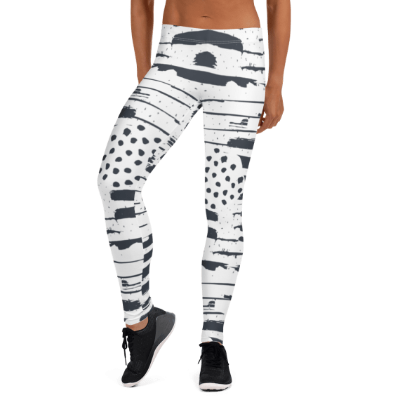 Pastel stripes and dots Leggings - Best Essentials Leggings Outfit for Girls - Premium Super Soft & Sexy Workout Yoga Pants