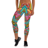 The Best Shiny Colored Ornament Capri Leggings - Premium Ultra Soft Jogger Tight Pants - Comfortable Leggings Outfit for Gym Girls