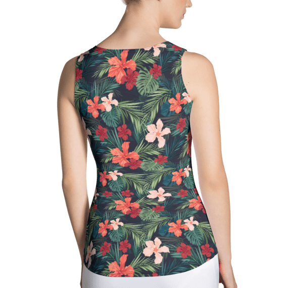 Hot Summer Flowers and Leaves Tank Top - Summer Vines and Vibes Tank Tops