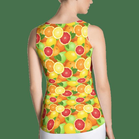 Oranges, Lemons and Limes Citrus Tank Top - Summer Fruits Tank Tops