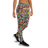 Women's Colored Floral Joggers with Pockets, Gym Joggers, (XS-3XL) Relaxed Fit
