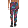 Women's Colorful Floral Ornament Workout Joggers with Pockets, (XS-3XL) Cozy Fit